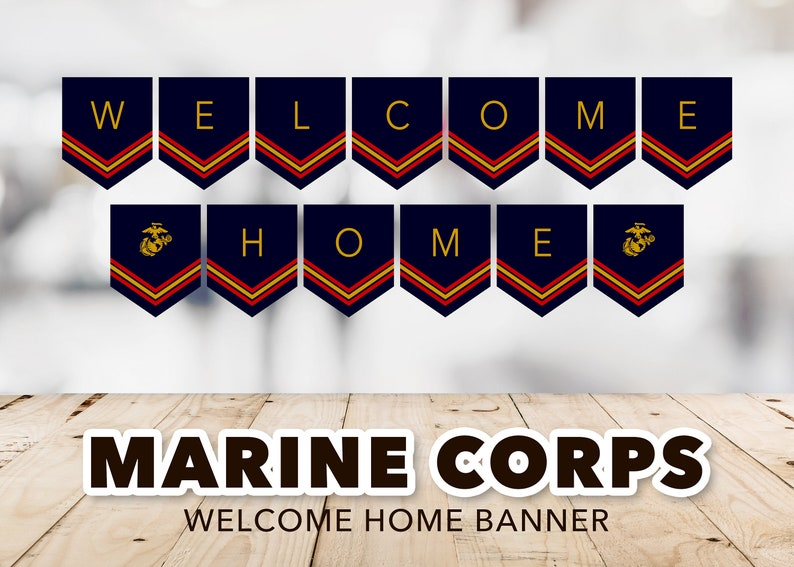 graphic about Welcome Home Banner Printable identified as Welcome Residence Maritime Corps Banner -- Welcome Residence Banner, Military services, USMC, Semper Fi, Patriotic, Homecoming Get together, Printable, Quick Obtain
