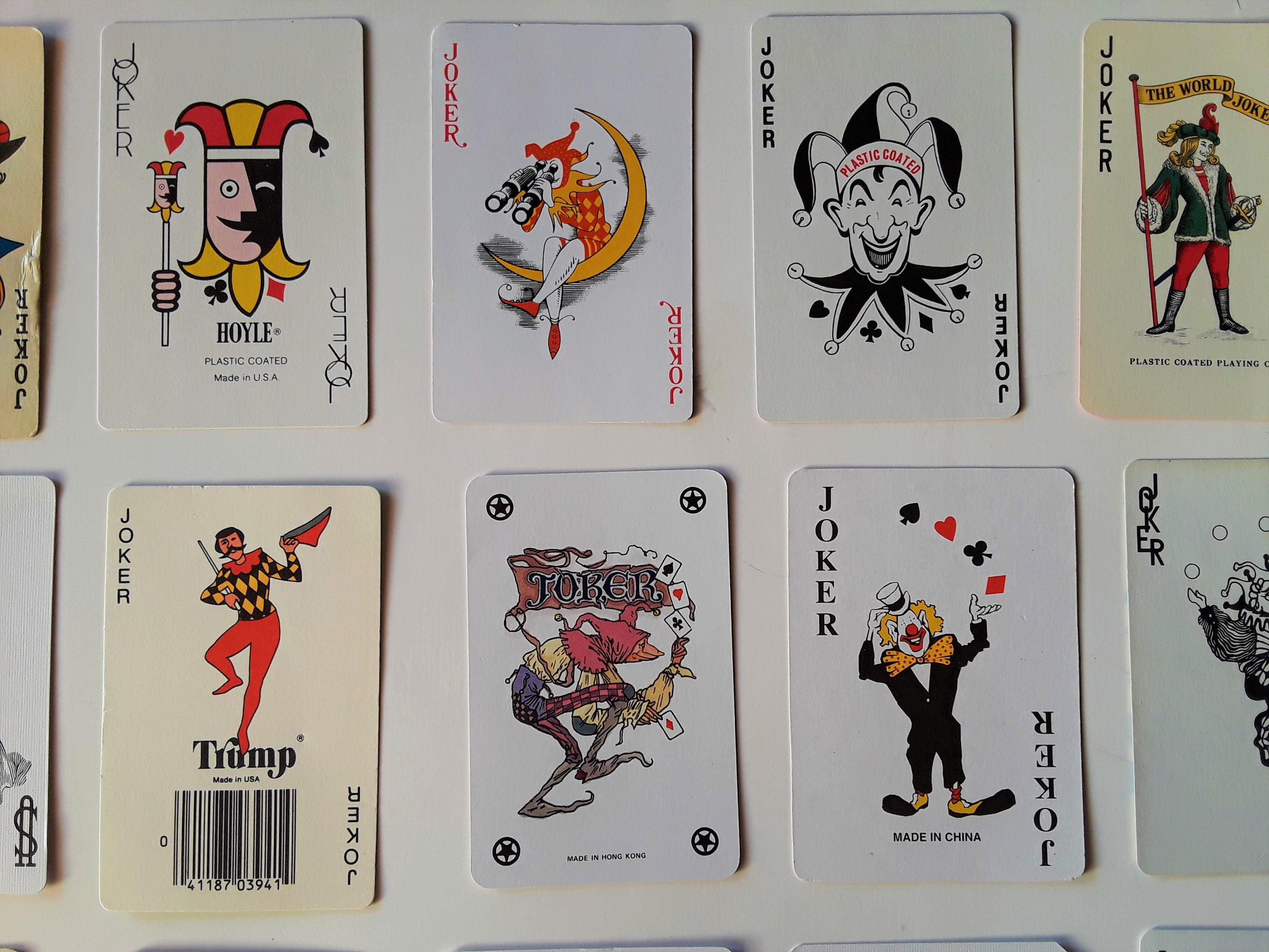 instant collection of 21 vintage JOKER playing cards | Joker card ...