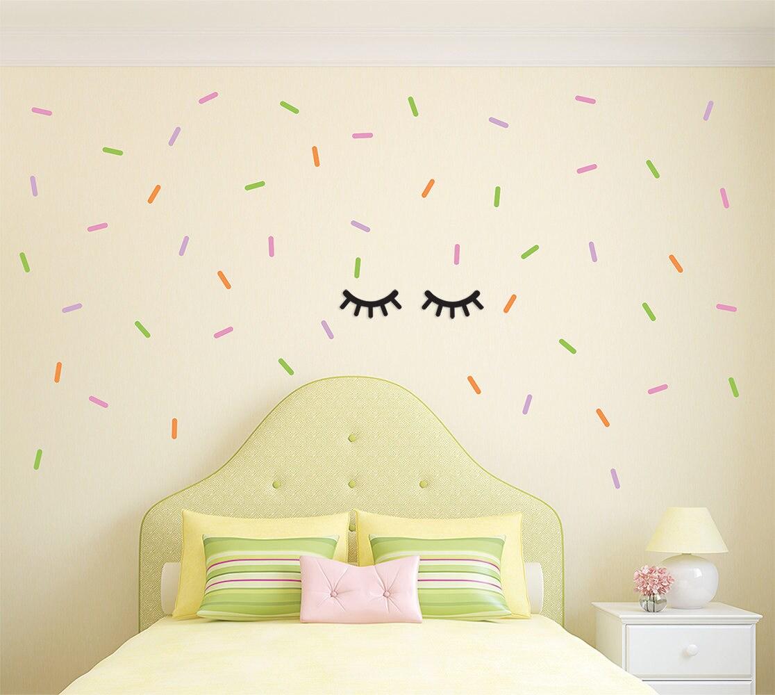 Confetti Sprinkles Vinyl Wall Decals Custom Wall Decal Kids | Etsy