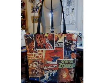 classic horror posters print beach bag large shopper UK seller