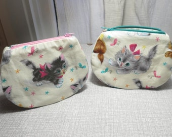 kittens print large purse kitten purse cat purse Free UK post