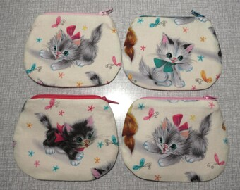 cute kitten purse choice of 4  kittens coin purses Free post to UK