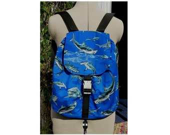 shark backpack large rucksack  -  adjustable straps UK seller