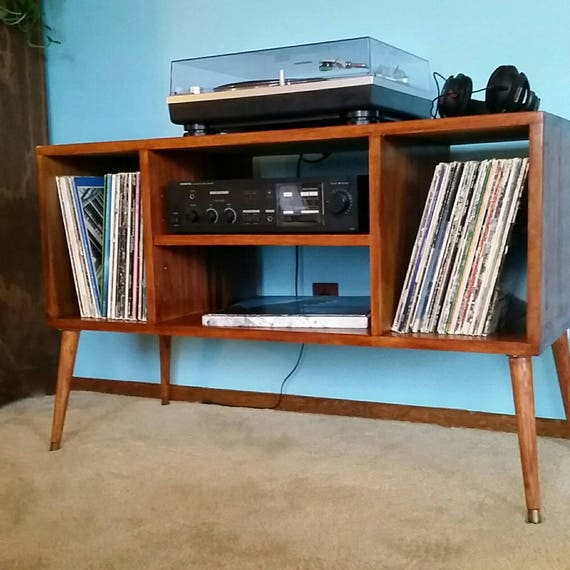 Record Player Stand Mid Century Modern As Entertainment Center | Etsy