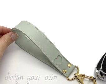 Rose Gold  Keyring Suede Faux Leather Lanyard Key Fob Gift