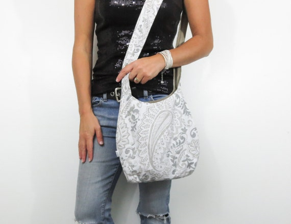 956dfcbee1d paisley hobo bag. cross body purse or shoulder bag. medium or
