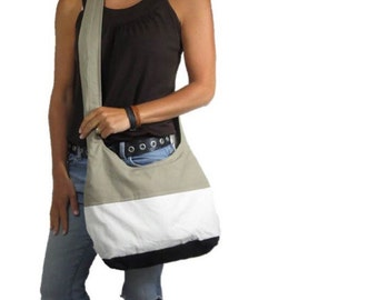 Colorblock purse. Hobo bag with Design your own choices cross body purse or shoulder bag medium or large. Now with more color combo choices