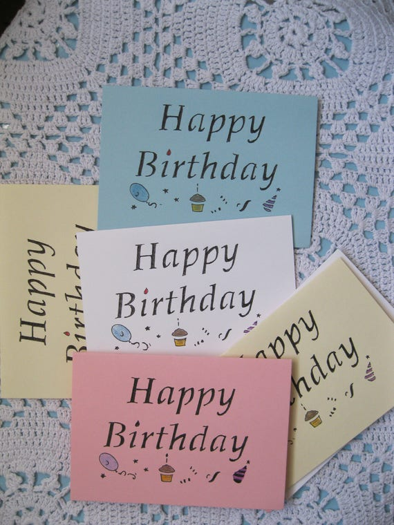 Handmade Happy Birthday Party Name Information Tag Table