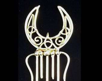 Bronze Knotted Moon Comb