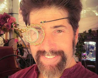 Articulated Bronze Steampunk Monocle