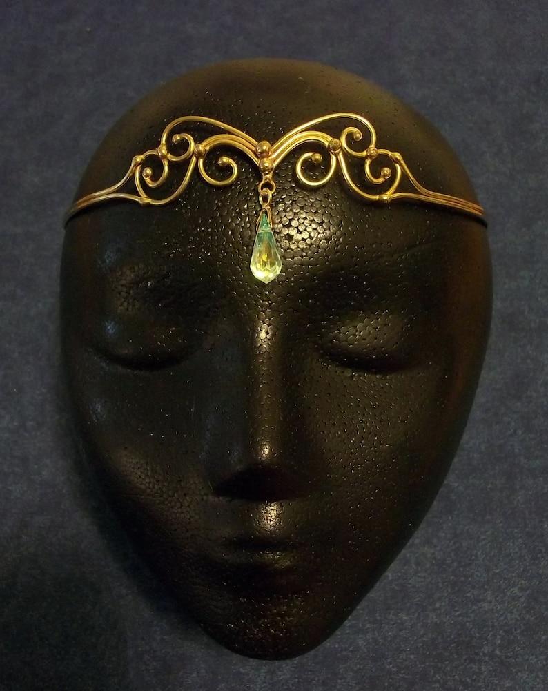 Bronze /& Crystal Circlet