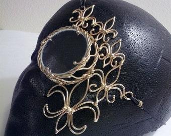Bronze Fleur de Lis Steampunk Monocle
