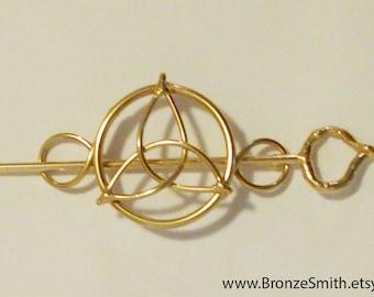 Bronze & Celtic Knot Barrette