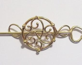 Bronze Triskelion Barrette
