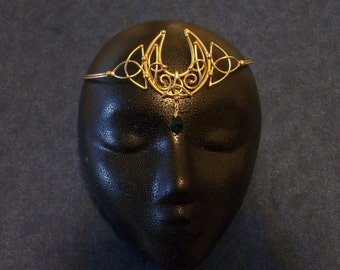 Celtic Knotted Moon Circlet