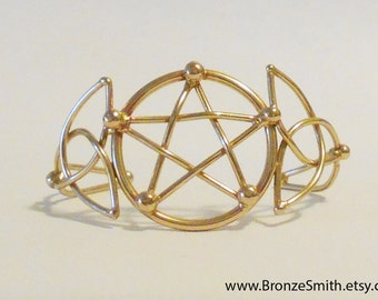 Celtic Pentagram Bracelet in Bronze