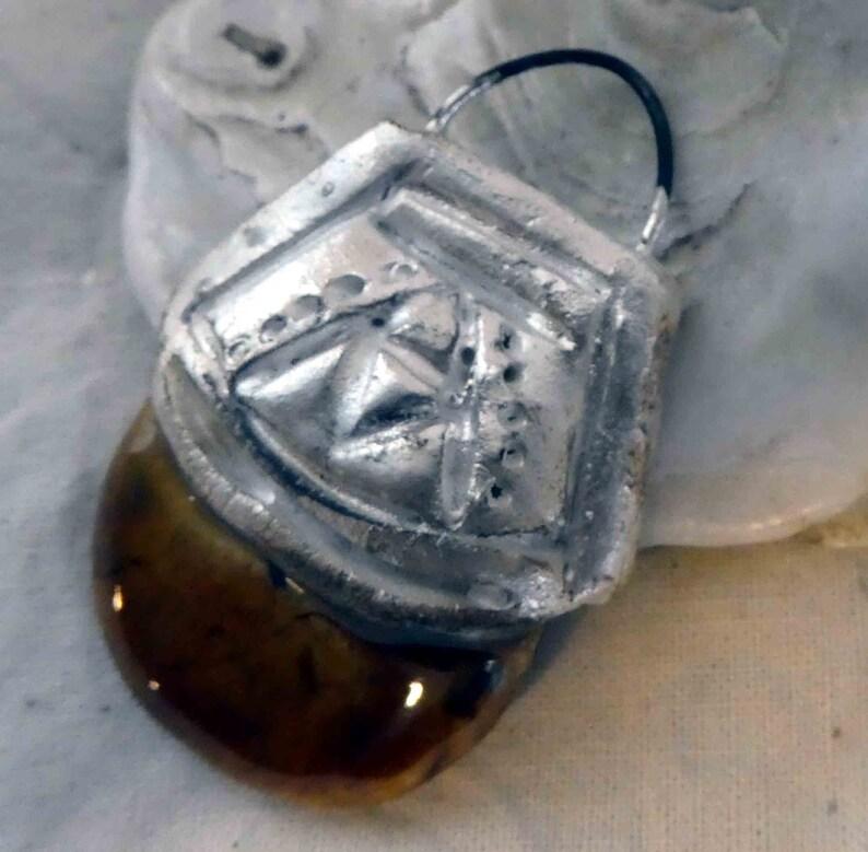 Cognac Ceramic Tuareg  Inspired Pendant