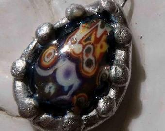 Ceramic Gemstone Decal Pendant