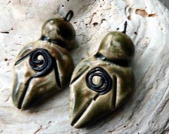 Ceramic Goddess Earring Charms - Andromeda