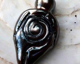 Ceramic Goddess Pendant - Gloria