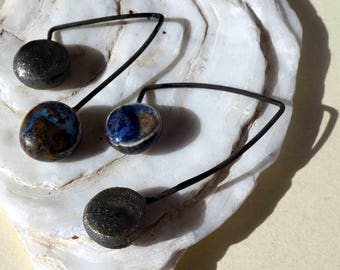 Double Disc Dangles -Bronze and Outer Space