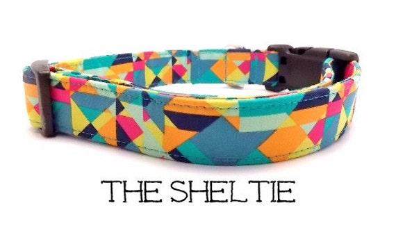 Bright Dog Collar The Sheltie Colorful Dog Collar Cute Dog Etsy