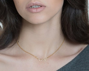 Name necklace Minimalist necklace everyday gold necklace love necklace custom personalized necklace my name necklace