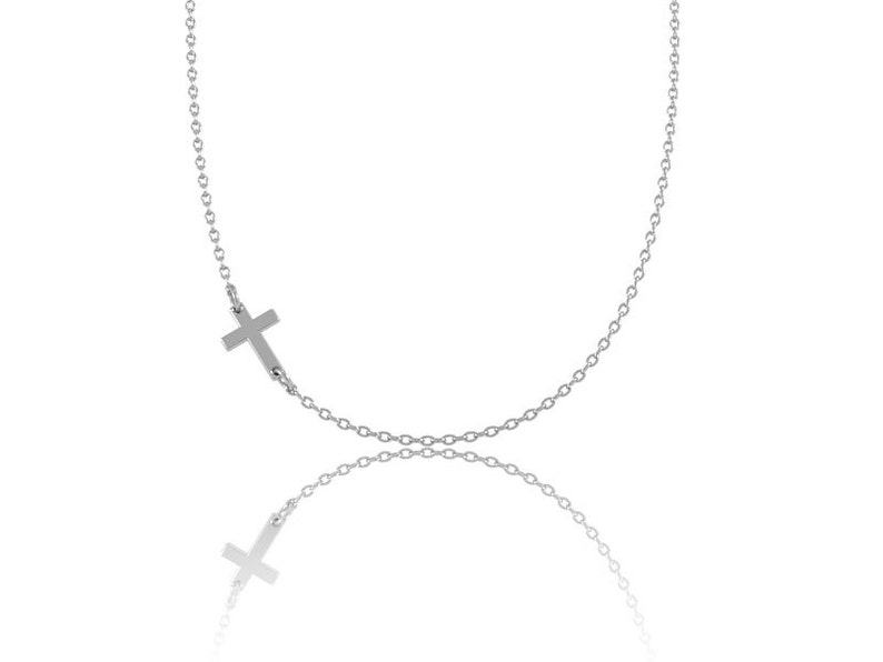 Personalized Necklace Custom Necklace gift ideas for her Cross Necklace -Sterling Silver Cross Pendant Letter Necklace