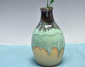 Drippy Ceramic Vase - Bud Vase -Artisan Pottery Handmade - Handcrafted pottery