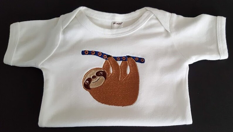 2ec62d828 Baby Phish Unisex Sloth Baby Bodysuit Custom Embroidered Sloth | Etsy
