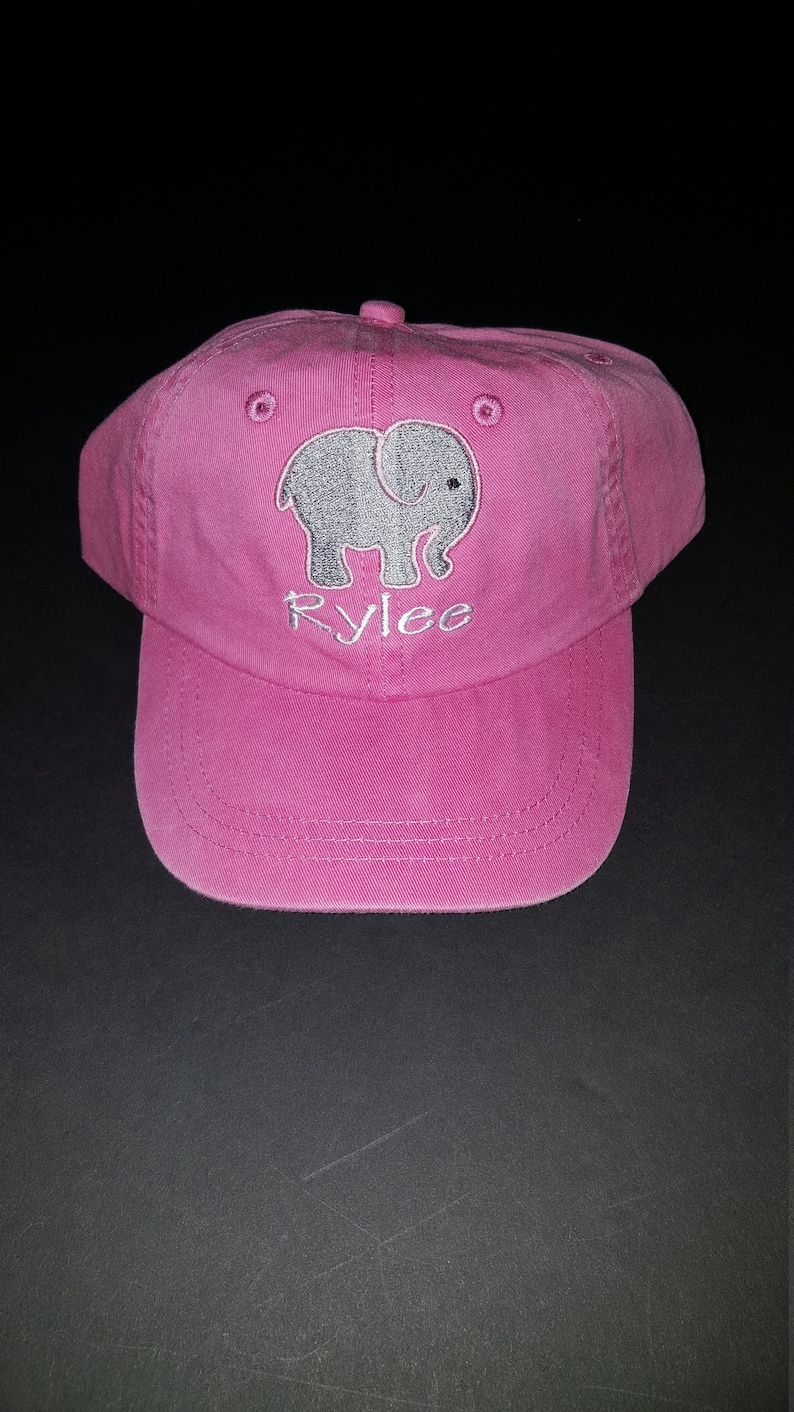 Custom Soft Baseball Cap Elephant Mom and Baby Embroidery Twill Cotton