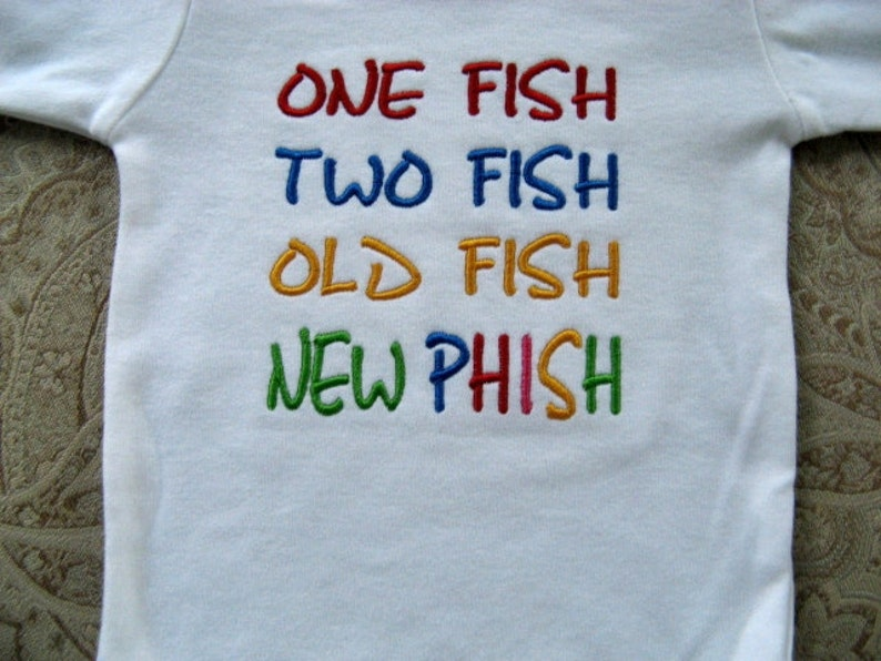 78bdb3aee Baby Phish One Piece Bodysuit Unisex Phish Infant Bodysuit | Etsy
