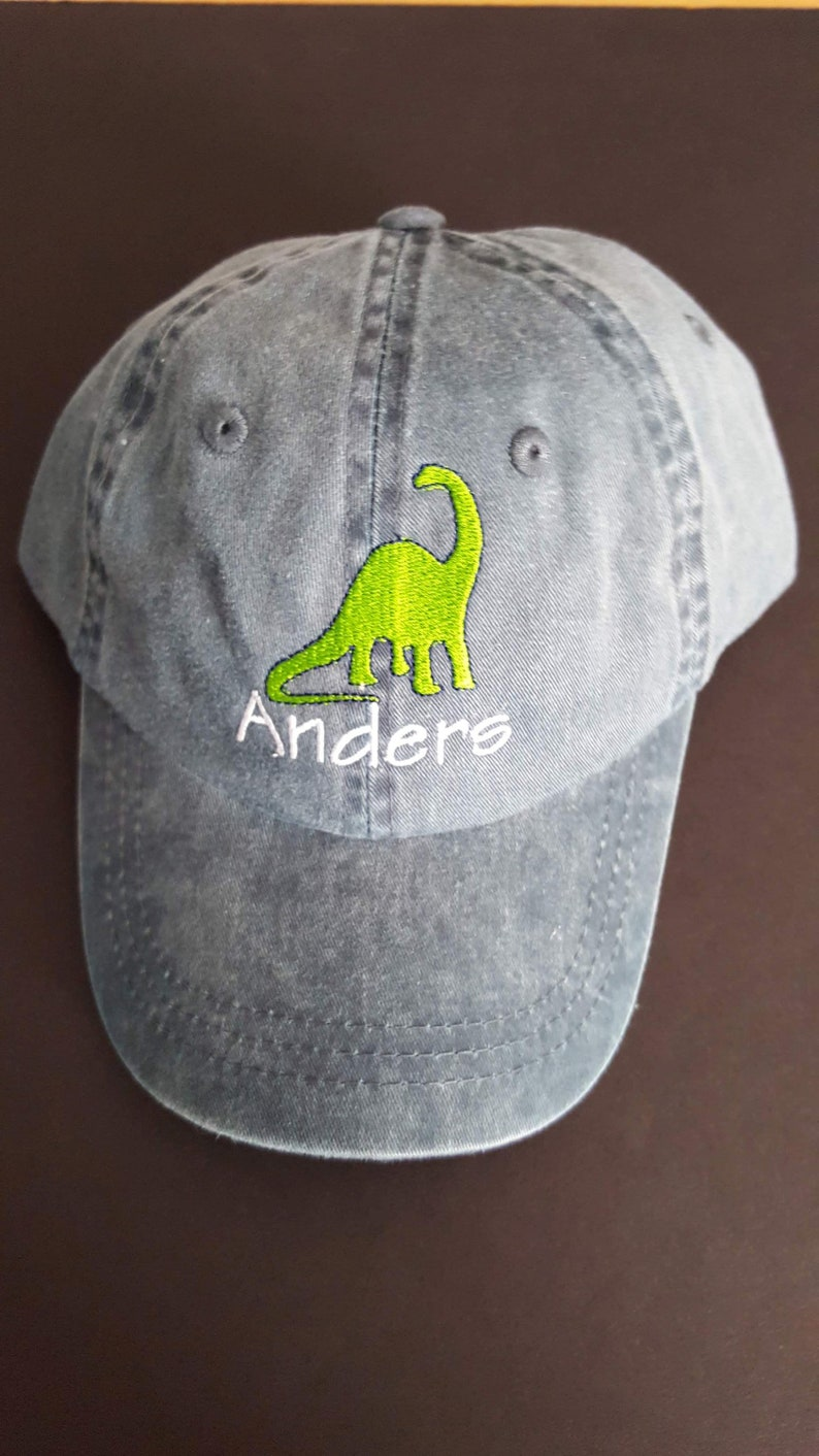 45849c5219bb0 Personalized Dinosaur Baseball Hat Cap Toddler Dinosaur Hat