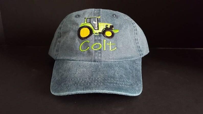 db8d66cc05a Toddler Kids Baseball Hat Farm Tractor Design Baseball Hat