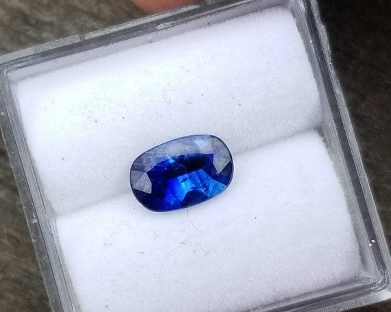 Ceylon Blue Sapphire 7.5x5 MM Cushion Shape Ethical Gemstone