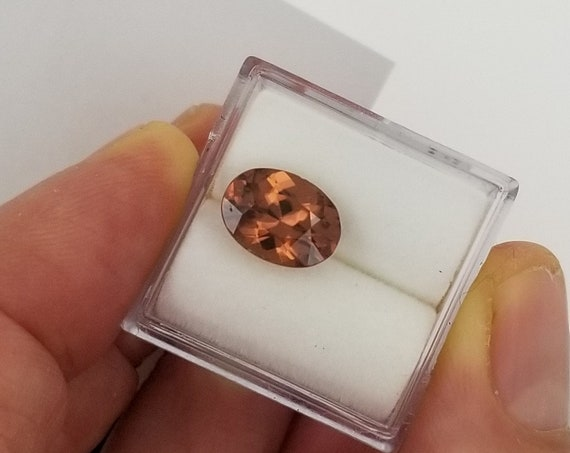 Cognac Color Natural Zircon 9.9 x 7.4 MM Oval