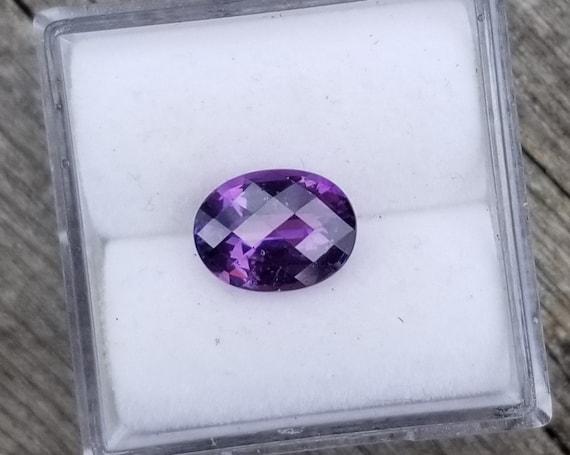 Ceylon Purple Sapphire 8.5x6.3 MM Oval Checkerboard