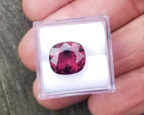 Unique Grape Pink Tourmaline 11.6x10.3 MM Precision Cut