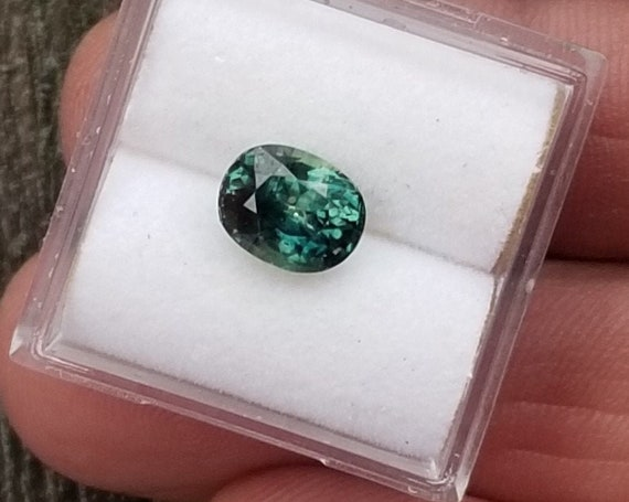 Blue Green Sapphire 2.13 Cts Oval From Australia