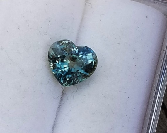 Heart Shape Teal Sapphire 6x5.5 MM