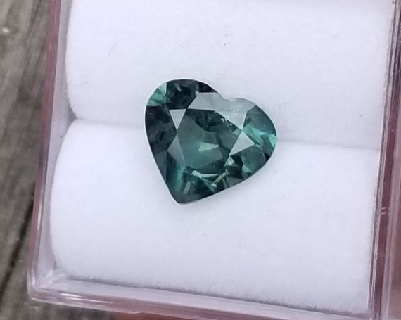 Heart Shape Blue Green Sapphire 1.85 Cts  Ethical Gemstone
