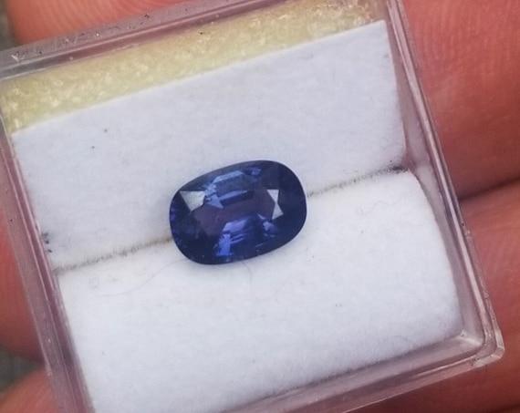 Natural Unique Color Change  Sapphire 1.34 Cts Cushion