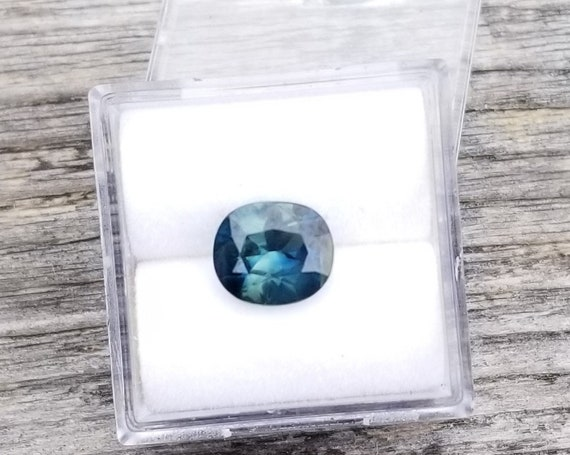 Fine Blue Green Sapphire 8.4 x7.3MM Precision Cut