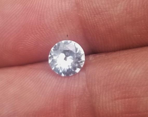 White Sapphire 6.8MM Round from Ceylon
