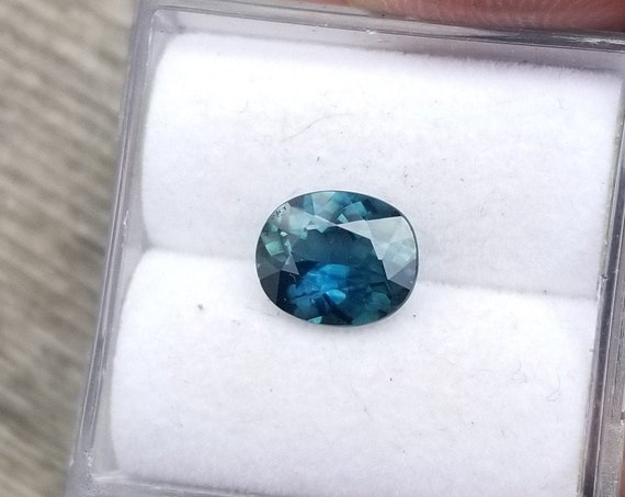 Ceylon Peacock Sapphire 7.3x6MM