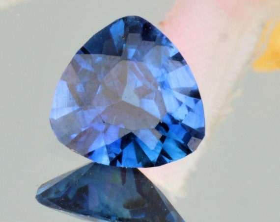 Blue Sapphire Triangle Shape 7.4 MM Natural Loose Gemstone