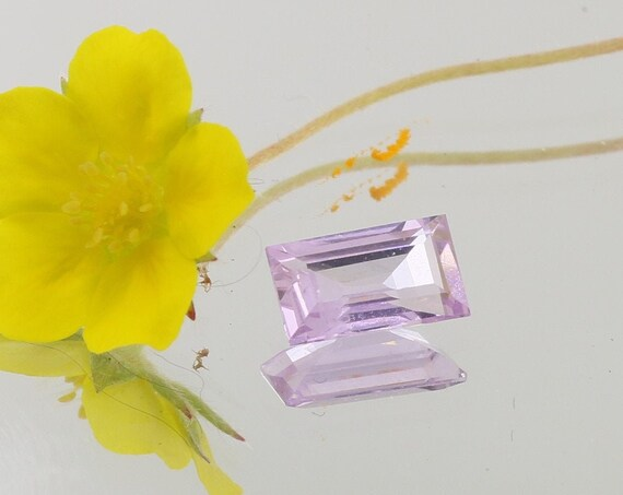 Pink Sapphire 7.2x4.2mm Baguette for Jewellery