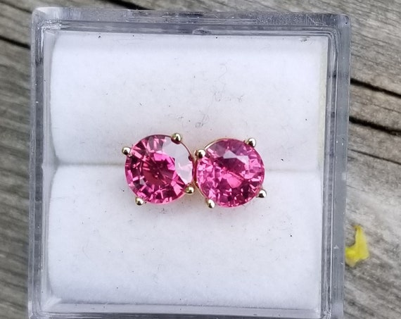 Collector Color 5.5 MM Sapphire Stud Earrings