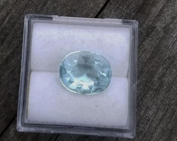 Aquamarine 11x9MM Oval Precision Cut March Birthstone