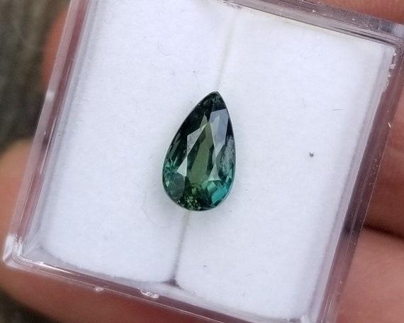 Tear Drop Blue Green Sapphire 8.6x5MM September Gemstone